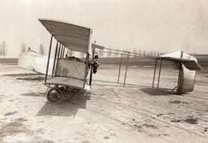 France Aviation Henry Farman Biplane old Rol Photo 1910