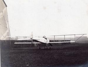 France St Cyr Aviation Zodiac Biplane Hangar old Photo 1912