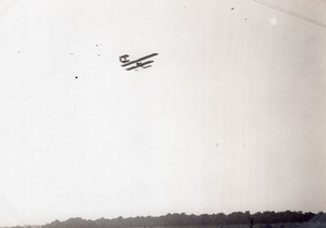 France Buc Aviation Farman Biplane in Flight old Photo 1910