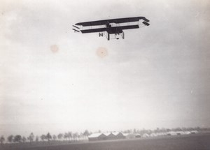 France Buc Aviation Bronislawski Biplane in Flight old Photo 1911