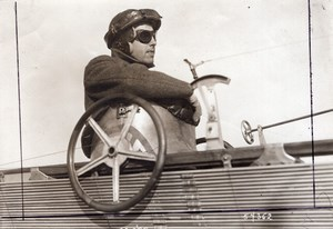 France Aviation Hubert Latham in his Antoinette Monoplane old Branger Photo 1910