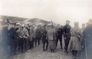 France Military Aviation Inspection? Officers old Photo 1910's