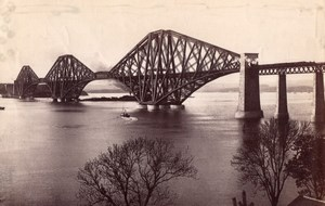 Scotland Forth Bridge old James Valentine Photo 1880
