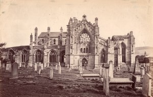 Scotland Melrose Abbey Ruins old James Valentine Photo 1880