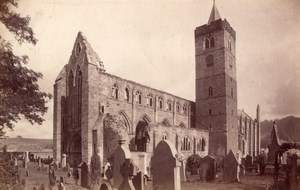 Scotland Dunblane Cathedral Ruins old James Valentine Photo 1880