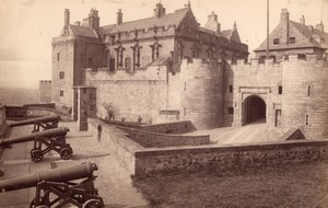 Scotland Stirling Castle The Palace Cannons old James Valentine Photo 1880