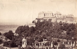 Scotland Stirling Castle from the Tower old James Valentine Photo 1880