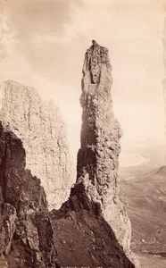 Scotland Skye Quiraing Needle Rock old James Valentine Photo 1880