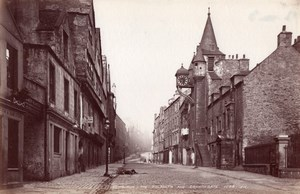 Ecosse Edimbourg Tolbooth & Cannongate Ancienne Photo James Valentine 1880