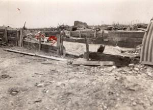 Belgique? WWI Ferme des Lanciers Ruines Sergent Dupuy Ancienne Photo 1917