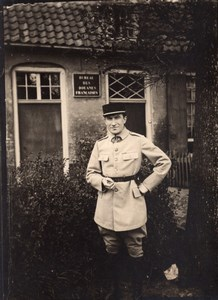 France WWI French Border Customs Office old Photo 1914-1918