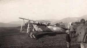 France WWI Military Aviation Breguet? Biplane old Photo 1914-1918