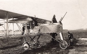 France WWI Military Aviation Voisin 8 Armored Biplane old Photo 1914-1918