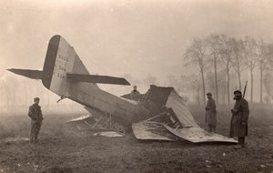 France WWI Military Aviation crash Letord? Biplan old Photo 1914-1918