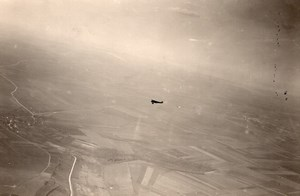 France WWI Military Aviation Aerial View Airplane Flying old Photo 1918