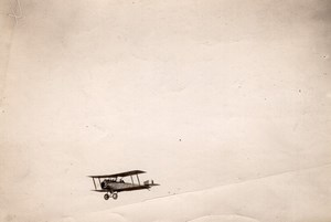 France WWI Military Aviation Nieuport or Sopwith? Biplane old Photo 1914-1918