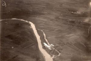 France WWI Military Aviation Nieuport or Sopwith? Biplane Aerial Photo 1914-1918