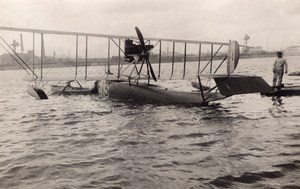 Dunkerque WWI Military Aviation FBA Schreck Seaplane Biplane D13 old Photo 1916