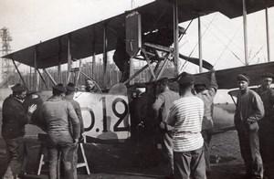 Dunkerque WWI Military Aviation FBA Schreck Seaplane Biplane D12 old Photo 1916