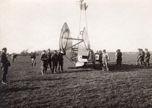 France WWI Military Aviation Nieuport? Biplane Crash old Photo 1914-1918