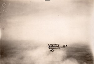 France WWI Military Aviation Nieuport or Sopwith? Biplane Aerial Photo 1914-1918