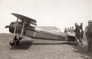 France WWI Aviation Militaire Biplan SPAD Ancienne Photo 1914-1918