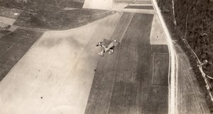 France WWI Military Aviation French Biplane Flying old Aerial Photo 1914-1918