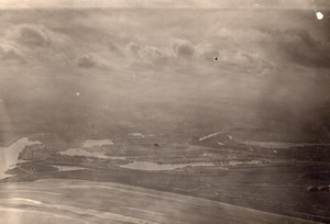 Northern? France Harbour Aerial View WWI old Photo 1914-1918