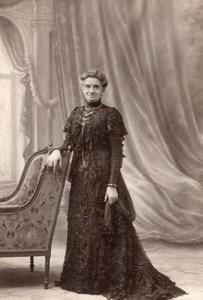 France Lille Elegant Older Lady Fashion Mme Flament old Cayez Photo 1910