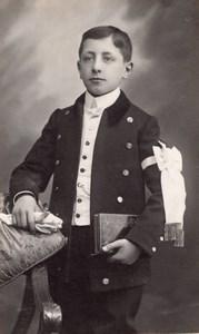 France Calais Portrait First Communion Young Boy old Baillon Photo 1910
