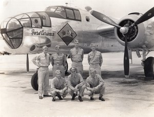 US Army Air Force Colorado Military Aviation B25 Jose Carioca II old Photo 1944