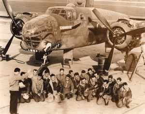 USA WWII Military Aviation Nose Art B25 Scaramouche old Photo 1944