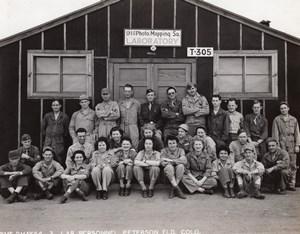 USA Peterson Field 91st Photographic Mapping Squadron Lab old Photo 1944