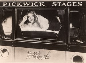 USA Train Sleeping car Pickwick Stages Nite Coach old Photo 1929