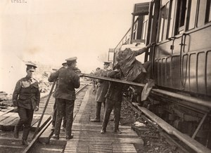 France? WWI Ambulance Train Wounded German Soldiers Evacuation Old Photo 1914-18