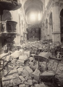 France Damaged Cambrai Cathedrale WWI old Photo 1914-1918