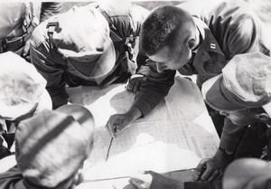 California Marine Corps Military Training Mock War Map Reading 4 old Photos 1966