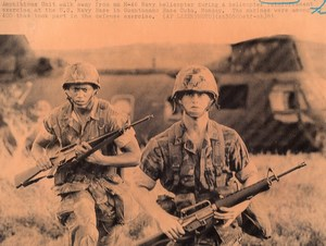 Cuba Guantanamo Bay US Navy Marine Amphibious Unit Exercise old Photo 1981