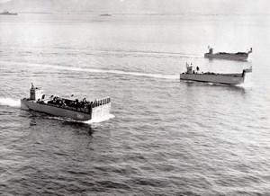Turkey Dikili US Marines Military Maneuvers Landing Crafts old Photo 1958
