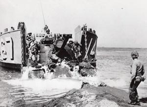 Turkey Dikili US Marines Military Maneuvers Landing Tank old Photo 1958