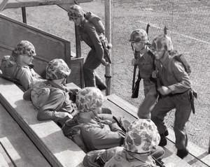 USA US Marine Corps Military Training Hill Climbing Exercise old Photo 1964