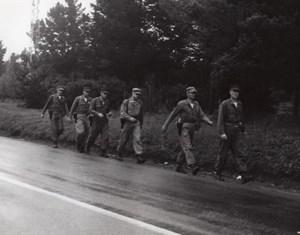 California US Marine Corps Reserve Saratoga to San Bruno Hike old Photo 1963