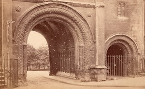 Bristol Great Gatehouse Arches Normandes & Wells Cathedral Chapter House 2 Anciennes Photos 1890