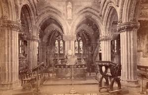 Ecosse Rosslyn Chapel Chancel & Lady Chapel 2 Anciennes Photos GWW 1890