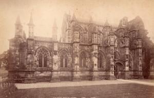 Ecosse Rosslyn Chapel Exterieur & Apprentice pillar 2 Anciennes Photos GWW 1890