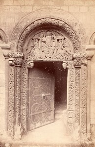 Royaume Uni Cathedrale d' Ely Cathedral Prior's Door Ancienne Photo GWW 1890