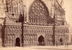 Cathedrale de Exeter Ouest & Bishop's Palace Évêché 2 Anciennes Photos Francis Frith 1890