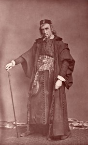 United Kingdom Theatre Stage Actor Henry Irving as Shylock old Photo 1880