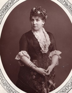 Royaume-Uni Theatre Actrice Marie Roze Mapleson Ancienne Photo 1880
