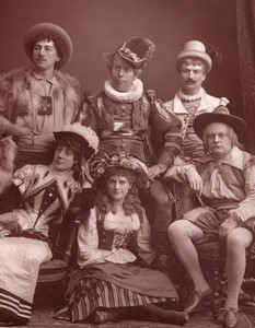 Theatre La Mascotte Galliard Brough Bracy Byron Cameron Haynes Ancienne Photo 1880